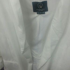 FASHION HACK FIND White Ruche Sleeve Blazer